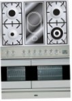 ILVE PDF-100V-VG Stainless-Steel Kitchen Stove, type of oven: gas, type of hob: combined