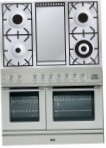 ILVE PDL-100F-VG Stainless-Steel Kitchen Stove, type of oven: gas, type of hob: gas