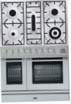ILVE PDL-90-VG Stainless-Steel Kitchen Stove, type of oven: gas, type of hob: gas