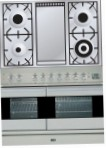 ILVE PDF-100F-MW Stainless-Steel Kitchen Stove, type of oven: electric, type of hob: gas