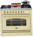 ILVE P-90FN-MP Antique white Kitchen Stove, type of oven: electric, type of hob: gas