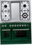 ILVE MTD-100FD-VG Green Kitchen Stove, type of oven: gas, type of hob: gas