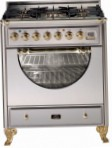 ILVE MCA-76D-VG Stainless-Steel Kitchen Stove, type of oven: gas, type of hob: gas