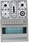 ILVE PF-90-VG Stainless-Steel Kitchen Stove, type of oven: gas, type of hob: gas
