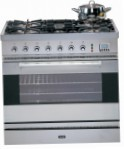 ILVE P-80-VG Stainless-Steel Kitchen Stove, type of oven: gas, type of hob: gas