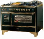 ILVE M-120B6-VG Green Kitchen Stove, type of oven: gas, type of hob: combined