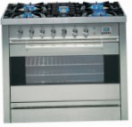 ILVE P-90-VG Stainless-Steel Kitchen Stove, type of oven: gas, type of hob: gas