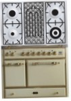 ILVE MCD-100BD-VG Antique white Kitchen Stove, type of oven: gas, type of hob: gas