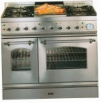 ILVE PD-100FN-VG Stainless-Steel Kitchen Stove, type of oven: gas, type of hob: gas