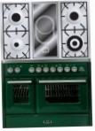 ILVE MTD-100VD-VG Green Kitchen Stove, type of oven: gas, type of hob: combined