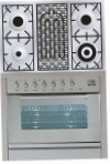 ILVE PW-90B-VG Stainless-Steel Kitchen Stove, type of oven: gas, type of hob: gas
