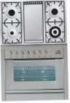 ILVE PW-90F-VG Stainless-Steel Kitchen Stove, type of oven: gas, type of hob: gas