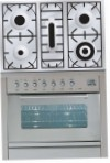 ILVE PW-90-MP Stainless-Steel Kitchen Stove, type of oven: gas, type of hob: gas