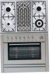 ILVE PL-90B-VG Stainless-Steel Kitchen Stove, type of oven: gas, type of hob: gas