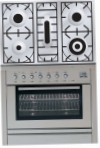 ILVE PL-90-MP Stainless-Steel Kitchen Stove, type of oven: electric, type of hob: gas