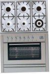 ILVE PL-906-VG Stainless-Steel Kitchen Stove, type of oven: gas, type of hob: gas