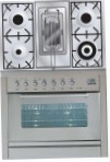 ILVE PW-90R-MP Stainless-Steel Kitchen Stove, type of oven: electric, type of hob: gas