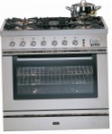 ILVE P-90L-VG Stainless-Steel Kitchen Stove, type of oven: gas, type of hob: gas