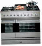 ILVE PD-90F-MP Stainless-Steel Kitchen Stove, type of oven: electric, type of hob: gas