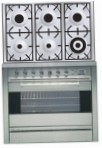 ILVE P-906-MP Stainless-Steel Kitchen Stove, type of oven: electric, type of hob: gas