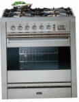 ILVE P-70-VG Stainless-Steel Kitchen Stove, type of oven: gas, type of hob: gas