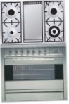 ILVE P-90F-VG Stainless-Steel Kitchen Stove, type of oven: gas, type of hob: gas