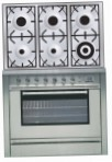 ILVE P-906L-MP Stainless-Steel Kitchen Stove, type of oven: electric, type of hob: gas